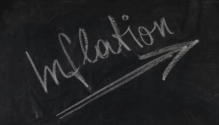Inflation written on a board